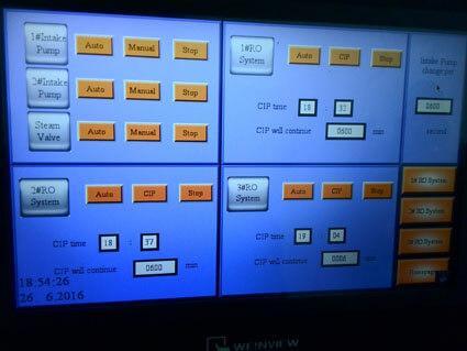PLC system of desalination plant